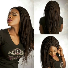 100% crochet braids lace front wig synthetic high quality wig cheap synthetic wigs for black women afro micro braid wig