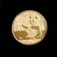 Panda Coin Gold Silver Plated American Non-currency Coins Gold Plated Coin Collectible BitCoin Art Collection Gift Physical(China)