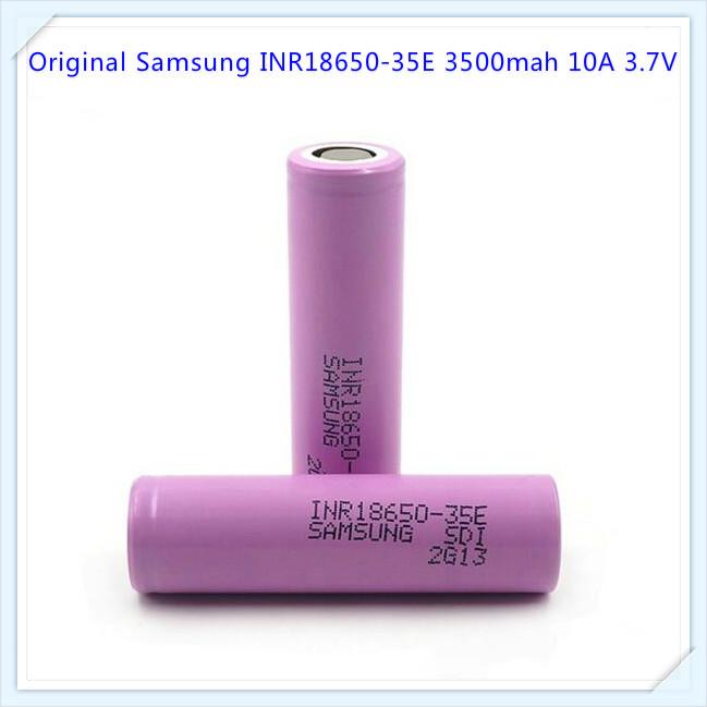 Samsung inr18650-35e batería 3500mah 3,7v celda con U-lötfahne//lötfaden 18650
