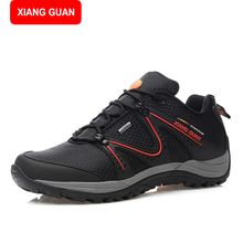 XIANG GUAN 2017 new men's sports shoes breathable mesh running shoes and lightweight sneakers men size 39-44 83307