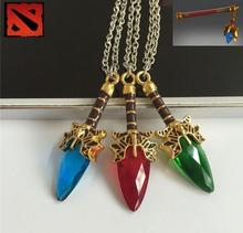 Hot Online Game Surrounding Dota 2 Necklace Pendant Aghanim's Scepter God Rod Fashion Dota 2 Lover's Pendant jewelry man women