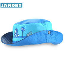 [JAMONT] Cute Spring Summer Kids Cap Boy Girl Sun Hat Quick Drying Cartoon Panama Children's Cowboy Hat Gorras(China)