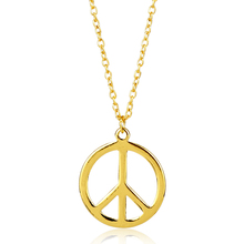 2017 Gold-color Peace Sign Pendant Necklace Fashion Alloy jewelry Peace Logo Pendant Necklace -30