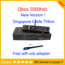 Free Shipping! NEW blackbox starhub Singapore cable tv Qbox HD receiver set top box QBOX 5000HDC qbox tv box 4000hdc+wifi dongle
