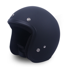 Free shipping, small shell open face 3/4 motorcycle motorcross Casco Capacete helmet, Jet Vintage retro helmet, Matte Black(China)