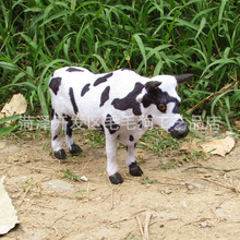 about 20x14cm simulation Dairy cow  toy polyethylene & furs resin handicraft,props,Creative Decoration gift h399