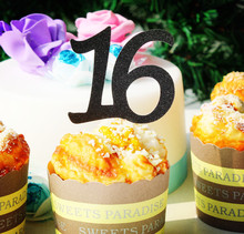 16 SWEET SIXTEEN BIRTHDAY CUPCAKE girls happy 16th BIRTHDAY party decoration ktis