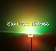 Good quality 120 wide angle RGB automatic FAST flashing LED 5MM 7-color changing(Strawhat DIP LED)(China)