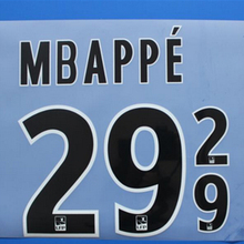 2017 Monaco 29 MBAPPE 9 FALCAO 17 18 custom football number Letter font print ,heating stamping Soccer patches badges