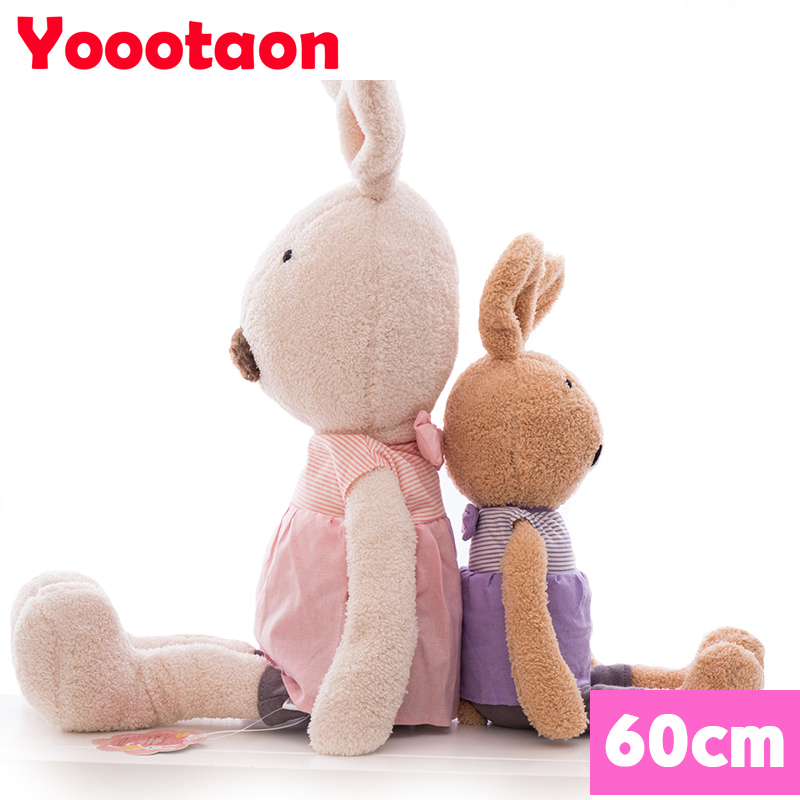 60cm soft rabbit dolls clothes can be take off le sucre bunny plush dolls kids toys.<br><br>Aliexpress