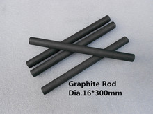 Dia.16*300mm graphite cylinder /graphite rod for welding and cutting /carbon graphite stir rod /FREE SHIPPING 2pcs(China)