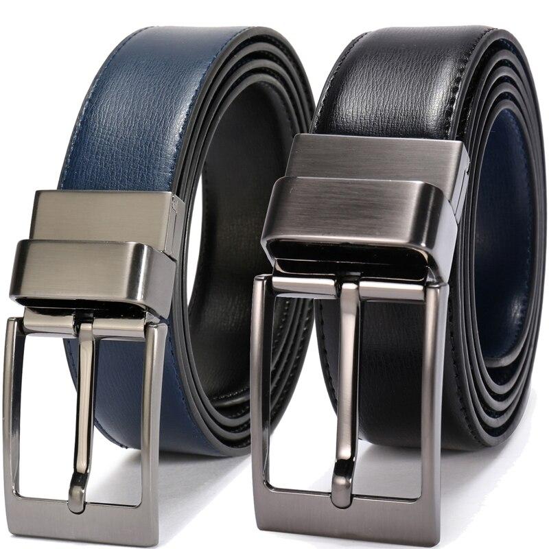 Classic Mens Dress Belt Business Belts Genuine Leather belts All size Black