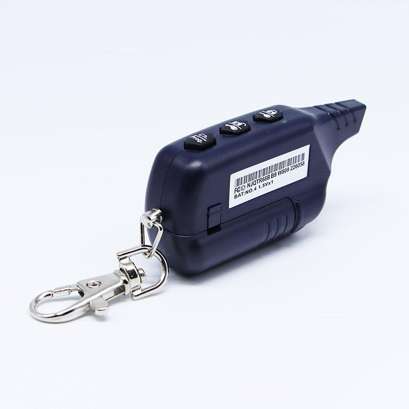 LCD Remote Controller Keychain Key Fob Chain 2-way For Russian Version 2 way Car Alarm System Twage Starline B9 5
