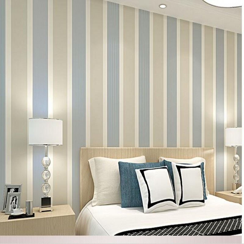 beibehang American minimalist living room bedroom den striped wallpaper TV background wallpaper factory wholesale TU wall paper<br>