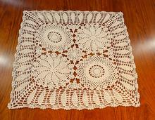 Lace Handmade crochet place table Mat cloth cotton Placemat Coaster cup Holder office doilies mug pad dining Kitchen accessory