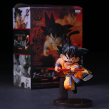 1pcs 14cm Son goku Childhood Dragonball Dragon Ball Z PVC Action Figure Toy free shipping