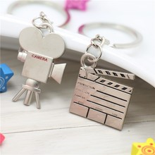 Valentine's day Accessories Retro Heart Camera Clapperboard Keychain Romantic Love Keyring Couple Gift Key Fob