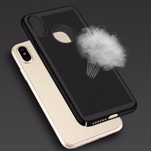 PC Cooling Heat Dissipation Mobile Phone Protective Case Hard Shell Full Protect Cover for iPhone X(China)