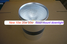 New arrival 10w 20w 30w Surface Mount LED Downlight White/Black body COB Light Bulb 80lm/W(China)