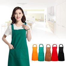 Waterproof Sleeveless Unisex Solid Bar Cafe Kitchen Cooking Painting Apron(China)