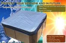 Customize 4mm Isolation spa cover cap for keeping spa clean warm in winter, protect your hot tub from now