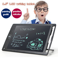 "8.5"" LCD writing tablet Convenient Erase drawing board reuse Handwriting Pad electronic toy,digital painting tablet for kid gift(China)"