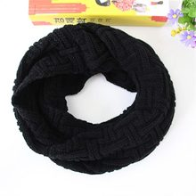 The new autumn and winter knitted wool scarves solid color men's Korean female models thick warm shawl collar wild # 1867448