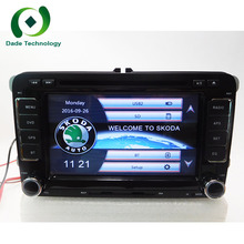2 Din 7'' Car DVD Player For Skoda Octavia Fabia Fast Yeti Superb VW Seat Stereo Wifi 3G GPS Navigation Radio FM 1080P Ipod Map(China)