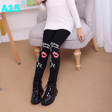 A15 Children Pants Winter Autumn Thick Warm Girl Leggings Long Girl Leggings Children Trousers Kids Pencil Pants Age 7 8 10 Year