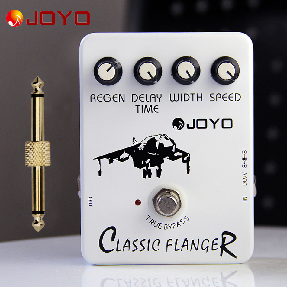 JOYO JF-07  Classic Flanger Guitar Effect Pedal electric bass dynamic compression pedal+1 pc pedal connector<br>