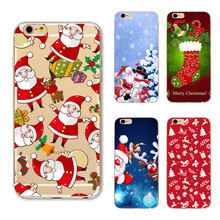 For iPhone6 Case Christmas Santa Case For iphone 6S 6 7 7 Plus 5 5s Case SE Silicone Back Cover for iPhone 7 Phone Case Cover