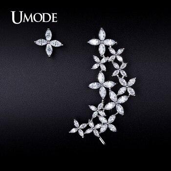 Umode nueva declaración bijoux stud pendientes para las mujeres wedding marca aretes de joyería de moda envío gratis chicas aros ue0207