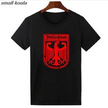 Deutschland German Flag Crest Germany Eagle Socceres Footballer jerseys T Shirts Mens Womens Nation Team Meeting Fans T-shirt(China)