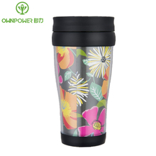 OWNPOWER 450ml Plastic Cup My Flower Drinking Water Bottle Plastic Sports Bottles Camping Drinkware Coffee Cup Tea Mug NEW Gift(China)