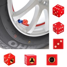 1pc Bicycle other accessory gas cap Universal Dice Car Truck Bike Wheel Airtight Tyre Tire Stem Air Valve Cap Red New new brand(China)
