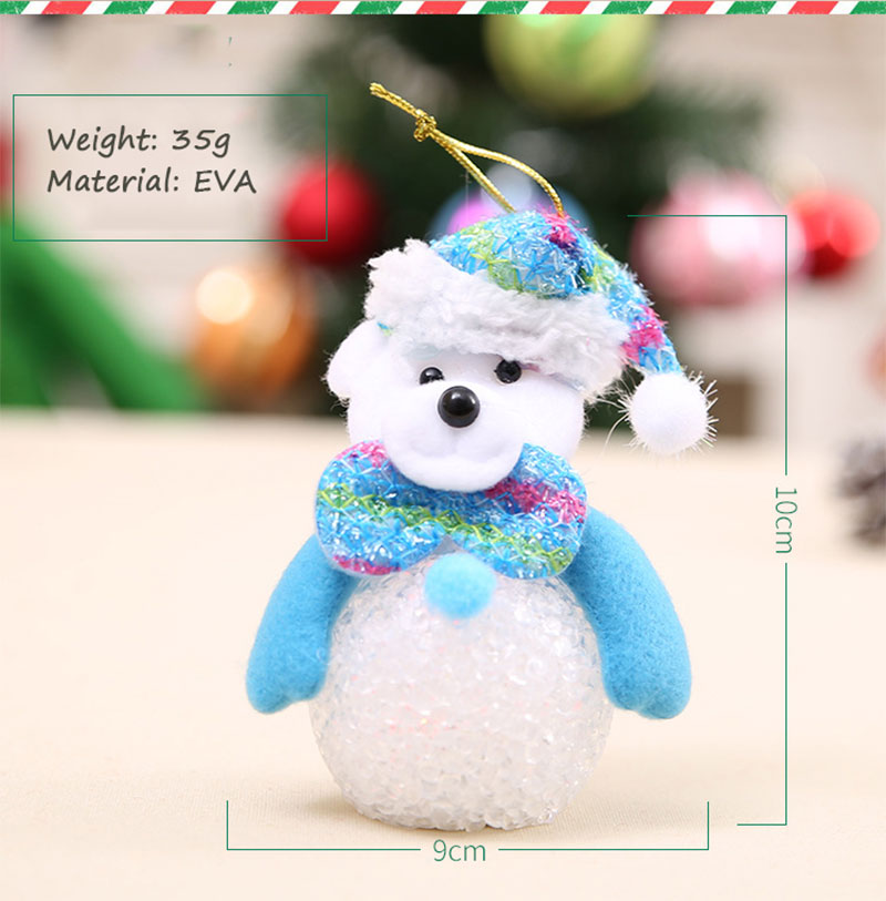New Year Christmas Decoration for Home accessories Glowing EVA Snowman Nightlight Snowman Christmas Tree gifts Navidad Natal (12)