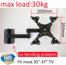 free shipping 10 inch 24in 30inch 37inch tiltable swivel LCD LED PLASMA tv wall bracket mount stand holder(China)