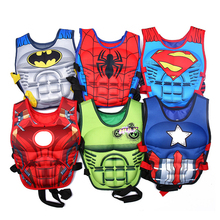 Superhero Life Vest Children Jacket PVC Cartoon Swimming Fishing Clothes Sports Pool Superman Accessories Water Safety Products(China)