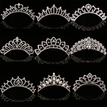 HOT Sale Charm Wedding Bridal Bridesmaid Tiara Crown Headband Heart Flower Girls Love Crystal Rhinestone Party Jewelry 12 styles(China)