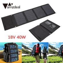 amzdeal 18V 40W DC5V Monocrystalline Solar Panel Module Car Portable Power Battery Charger foldable Portable Outdoor DIY Cell