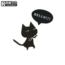 KAWOO 20*20CM Fashion Cat Say Hello Car Auto Motorcycle Reflective Decal Car Stickers Decoration Car Styling Free Shipping