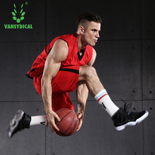 VANSYDICAL Newest Men Cheap Basketball Jerseys Set High Quality USA Basketball Jersey Camisa Throwback College Basketball Jersey