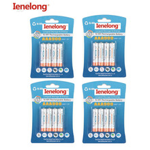 Ni-MH 900mAh AAA Batteries 1.2V AAA Rechargeable Battery Low Self-Discharge Ienelong 16Pcs/4card