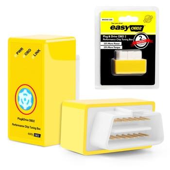 Nuevo Diseño Con Botón de Reinicio easyobd2 Gasolina Coches Adaptación de la Viruta OBD2 Caja de Enchufe y la Unidad Más Potencia y Par Motor Mejor que Nitroobd2
