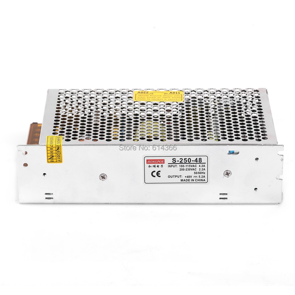 1PCS 250W 48V 5.2A power supply for industrial control LED drive AC to DC power suply 48V 250w power supply 100-240VAC<br>
