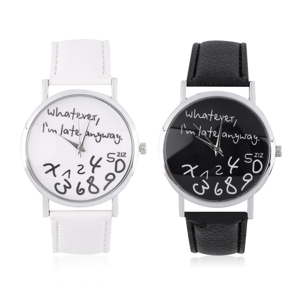 Whatever I Am Late Anyway Wrist Watches Gifts Dressing Wristwatches Gift Wholesale<br><br>Aliexpress