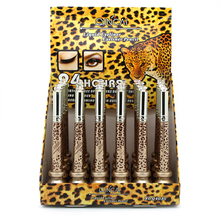 Hot Selling Leopard Shell 2 In 1 Black Cosmetics Waterproof Liquid Eyeliner +Eye Liner Pencil Pen Lasting Makeup High Quality(China)