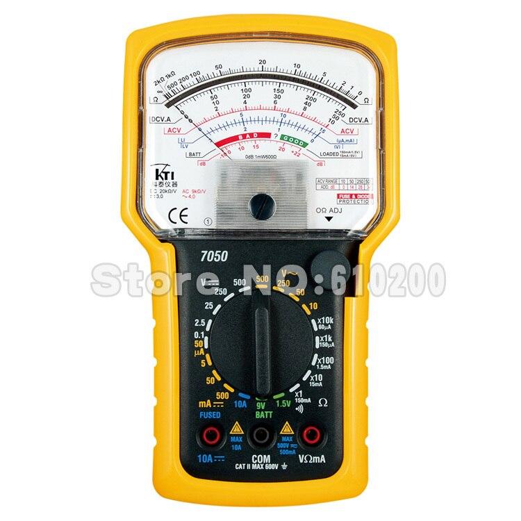 FreeShipping Brand KTI High precision High sensitivity Pointer Multimeter Ohm Test Meter Analog Multimeter EN61010-1,CAT II,600V<br>