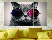 Cute Cat Praying Modern Canvas Paintings Animal Wall Christmas Canvas Pictures For Home Decor Cuadros Decoracion Vintage Gift