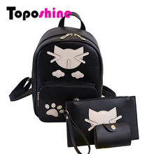 Toposhine 2016 Fashion Cat Women Backpack For Girls Backpacks  Backpacks Female School Bag Fashion Girls Bags Lady Backpack 1571
